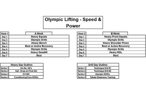 Olympic - Speed & Power Program