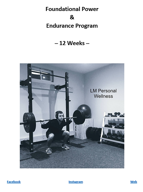 Foundational Power & Endurance Program