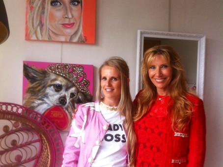 TV-Opname voor 5tv 'Pink ambition' bij Tutu Chic met Freya Poppe