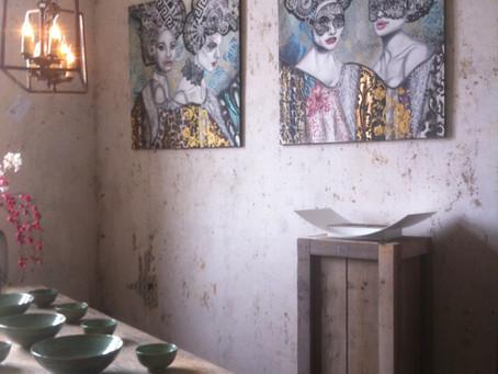 Mijn schilderijen  bij Pand 3 te Ranst