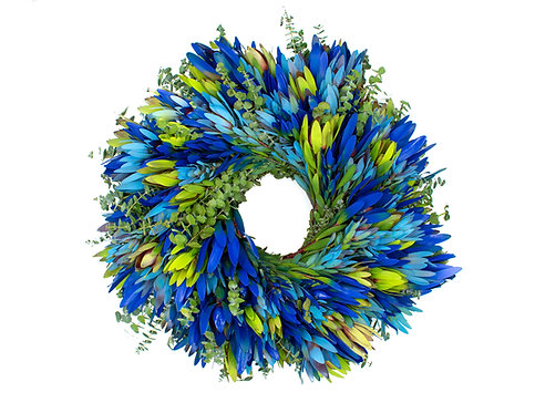 Blue Mix Wreath