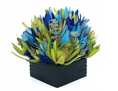 Medium Blue Mix Black Ceramic