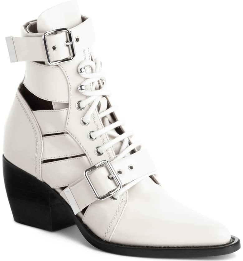 Chloe, Chloe Boots, White Boots, Booties,