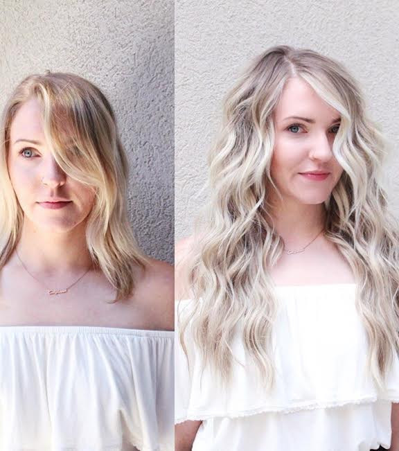 Hair Extensions, NBR, NBR Extensions, Long Hair, Transformation, Hair Transformation, Transformation Tuesday, Mermaid Hair, Victoria's Secret Hair,  American Eagle Outfitters, Blonde Hair, Icy Blonde, Blue Eyes,