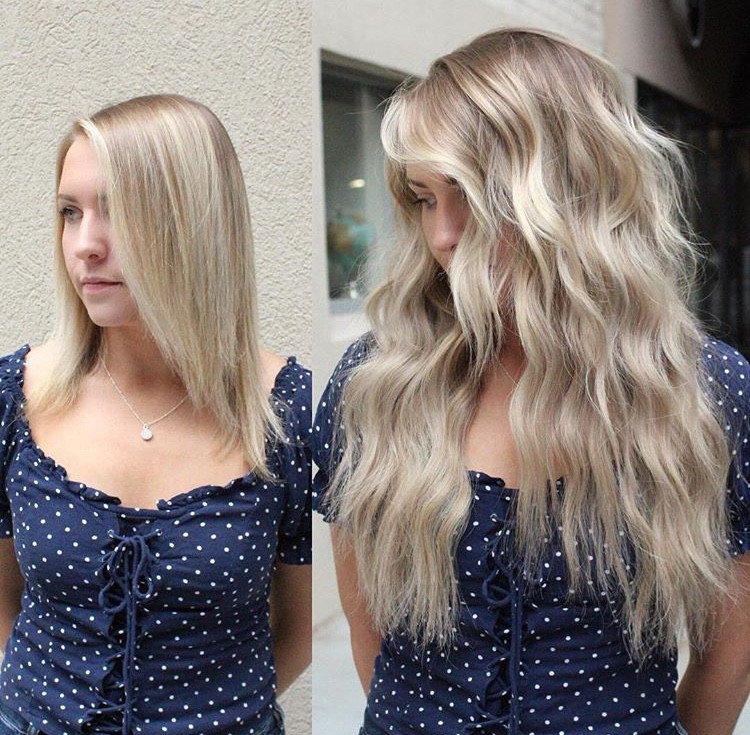 NBR Extensions, Natural Beaded Row Extensions, Hair Extensions, Extensions, Blonde, Lived In Color, Hair Extension Specialist