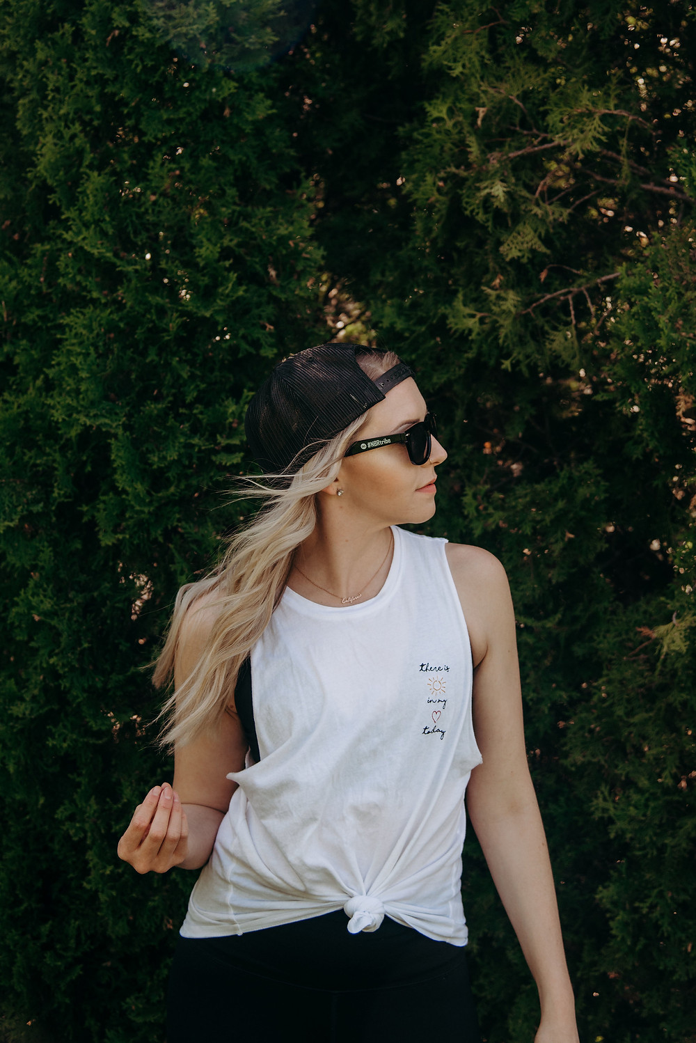 Hair Extensions, Hair Extension Specialist, Extensions, Fitness, Fitness Wear, Workout Clothes, Snap Back, Trucker Hat, Muscle Tank, Long Hair, Birdie Bee Brand, Birdie Bee, NBR Extensions, Natural Beaded Row Extensions,
