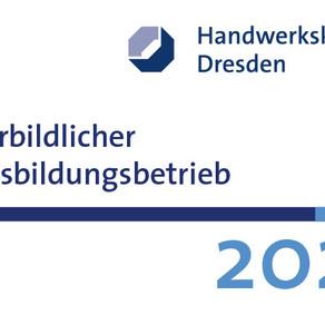 """06/2021 - Auszeichnung """"Vorbildlicher Ausbildungsbetrieb 2020"""""""