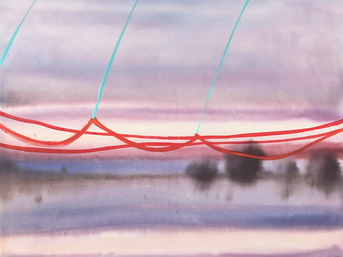 Landscape with Red Line