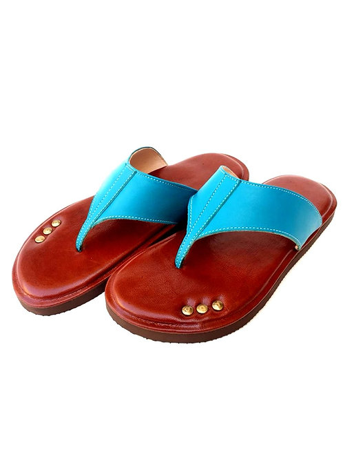 Womens Leather Flip Flops