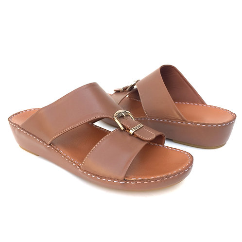 Leather Arabic Sandals - BEIGE