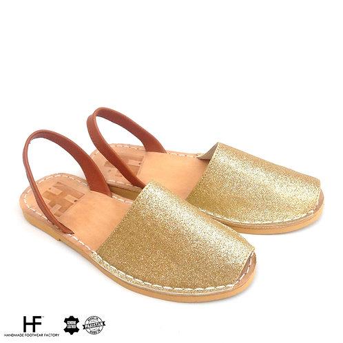 GOLD brown Avarcas