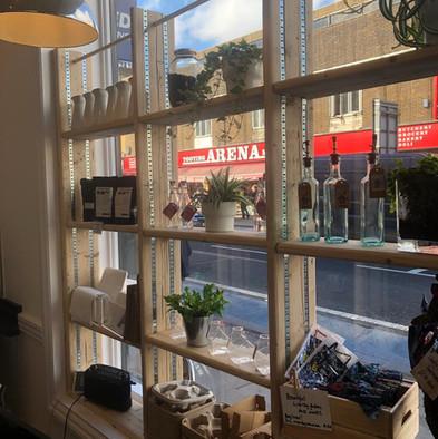 Walker Wyatt Coffee Shop Shelving