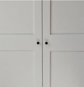 AShaker style wardrobe simple handles