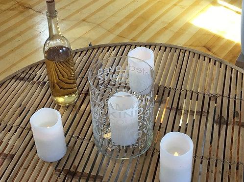 LED pillar candle, white