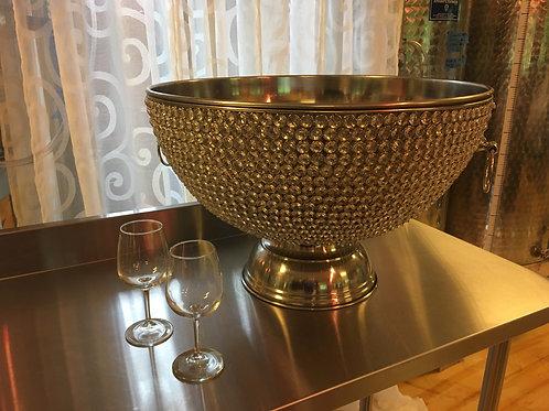 Crystal punch bowl