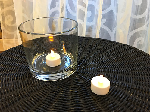 LED votive candle, white