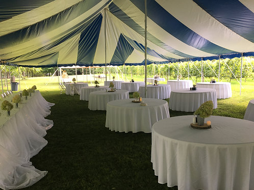 White round tablecloth, 120 inch
