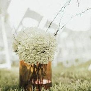 Large smoky rose colored glass cylinder vase