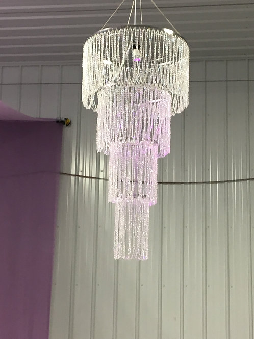 Beaded crystal chandelier