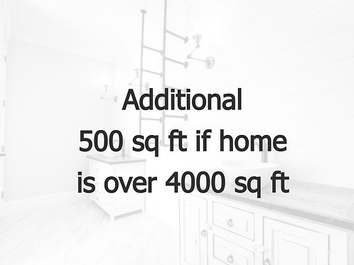 Additional 500 sq ft.