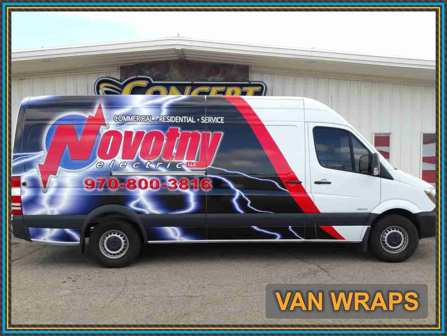 Construction Van Wrap