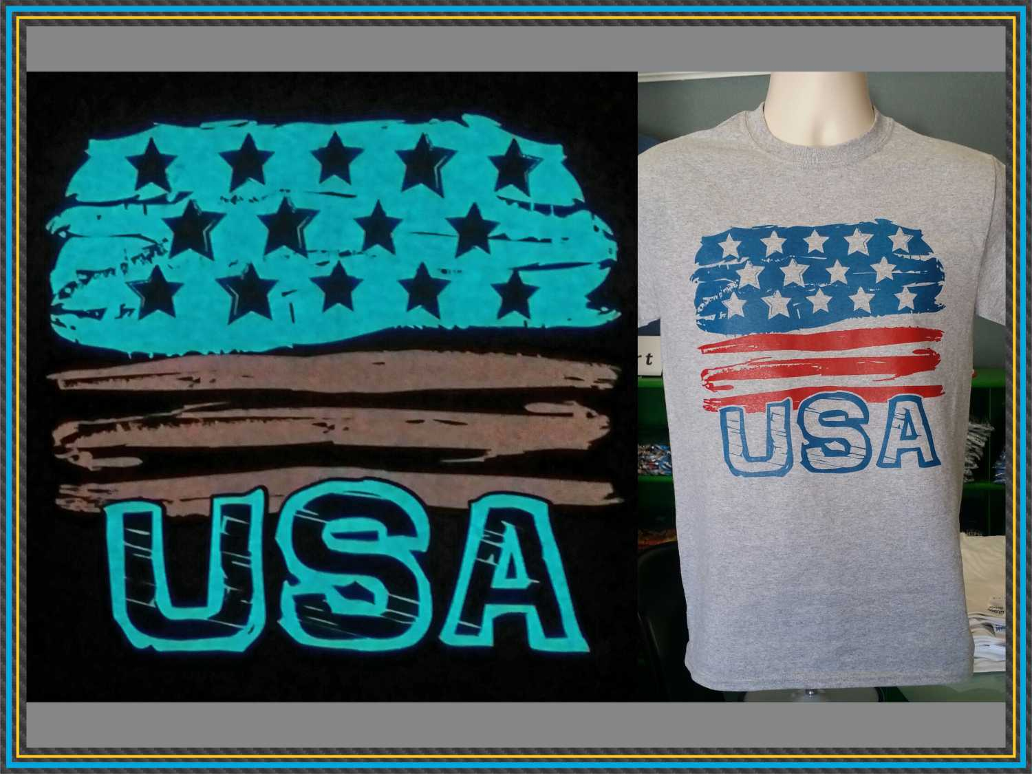 Glow in the Dark USA t shirt