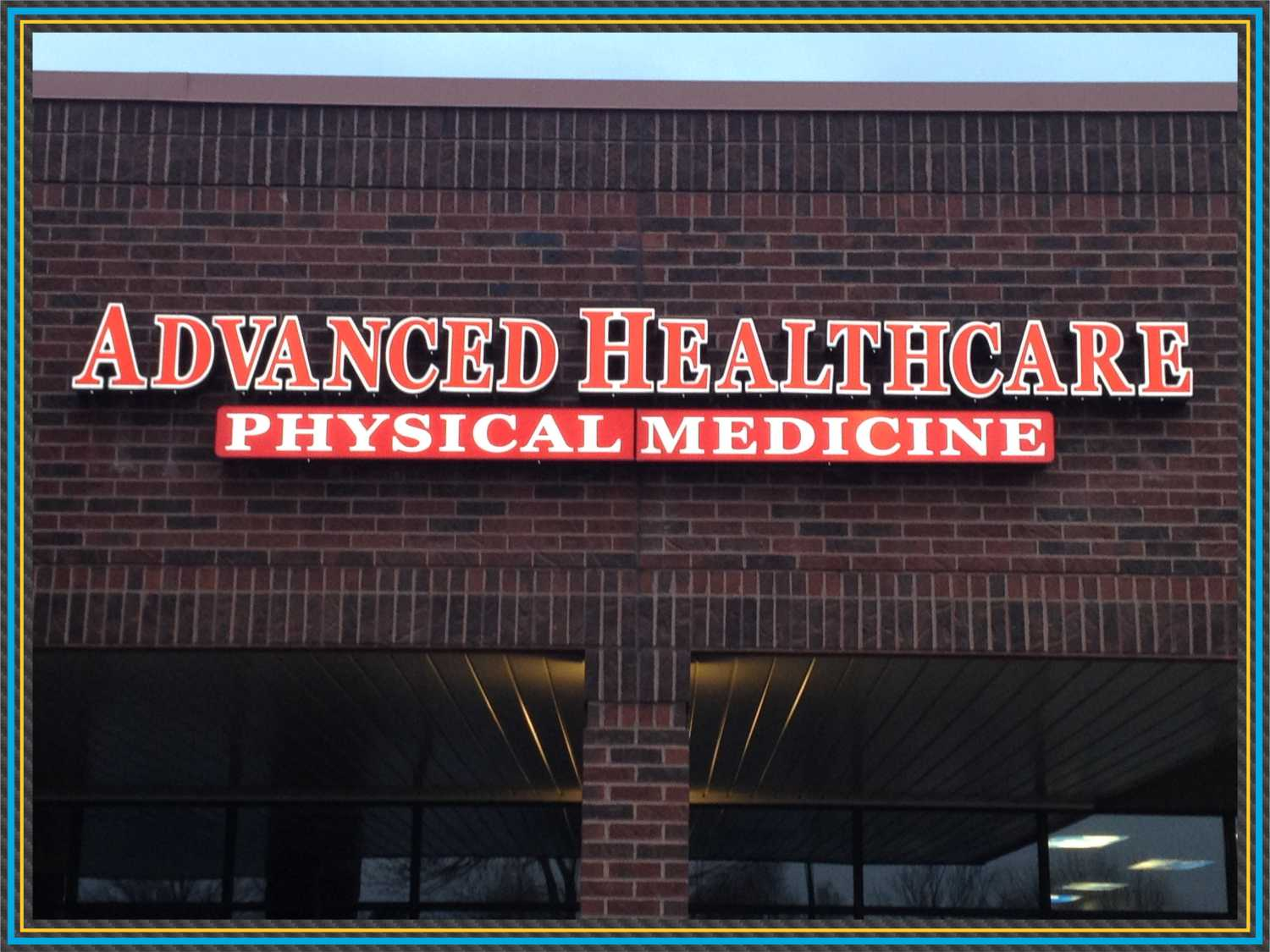 Advancee Healthcare Channel Letter Sign