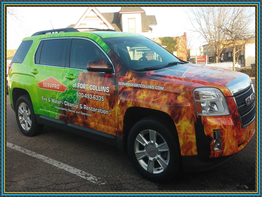 Servpro vehicle wrap