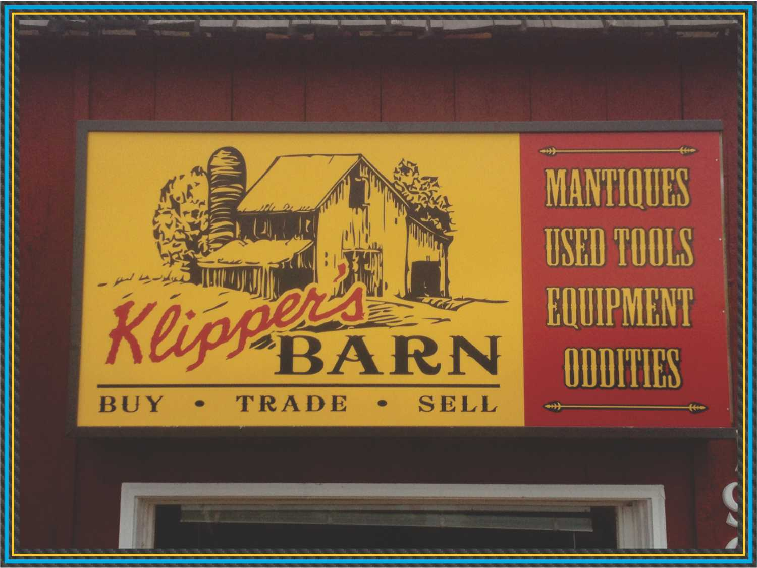 Klippers Cabinet Sign