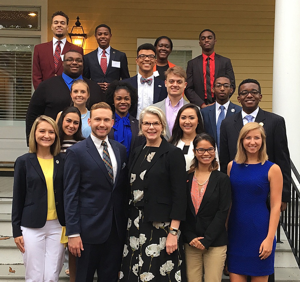 Student Body Presidents with UNC System President Margaret Spellings