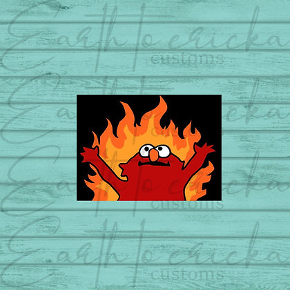 Hellmo | Elmo on Fire | Elmo Meme
