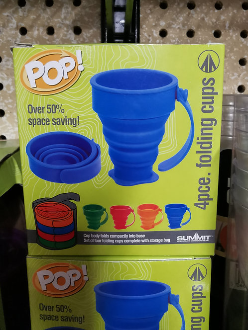 Pop 4pc collapsible mugs/cups