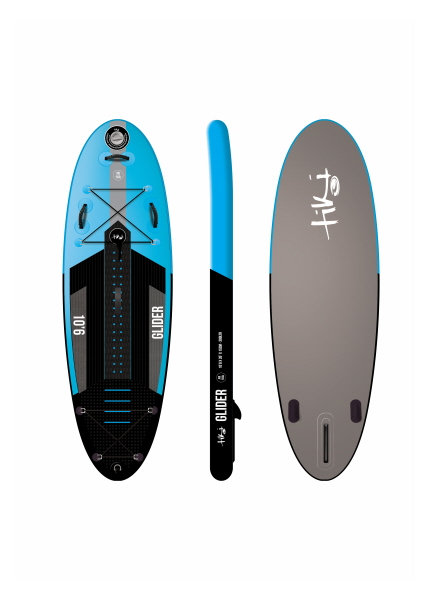 Tiki 10'6 Glider Inflatable SUP + accessory pack, paddle & leash