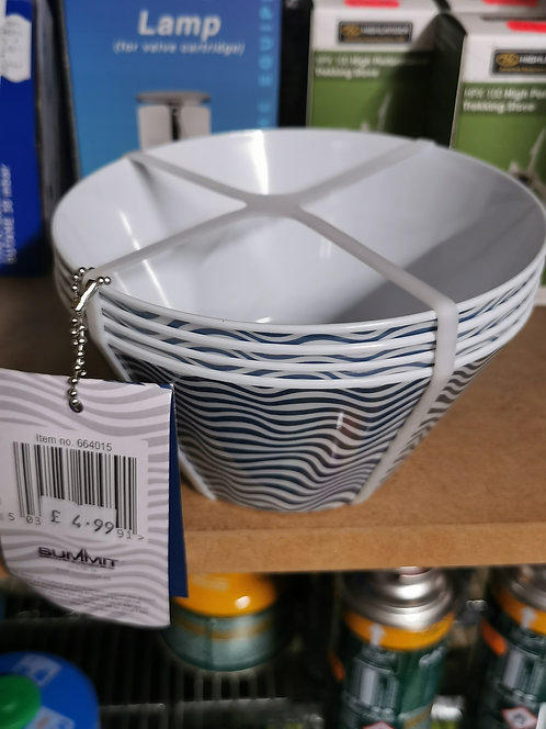 4pc Camping breakfast bowls