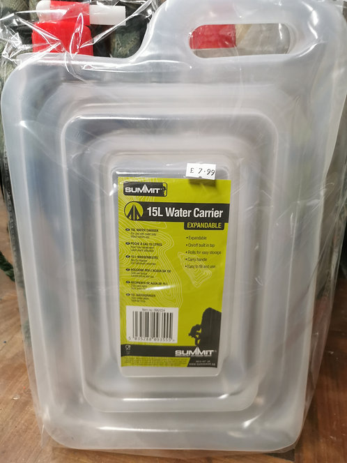 Collapsible 15L water carrier