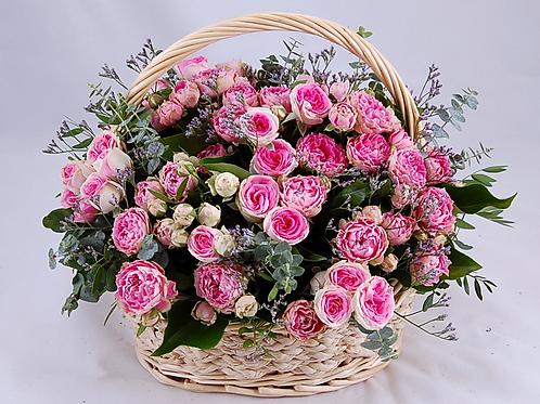 Корзина Розовое чудо