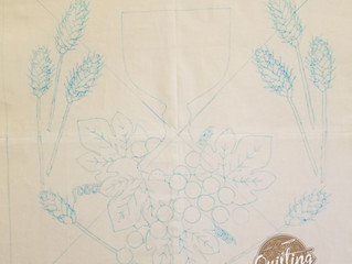 Tracing the Medallion Block Pattern for the Baltimore Album Quilt