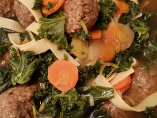 Vegan Meatball Soup