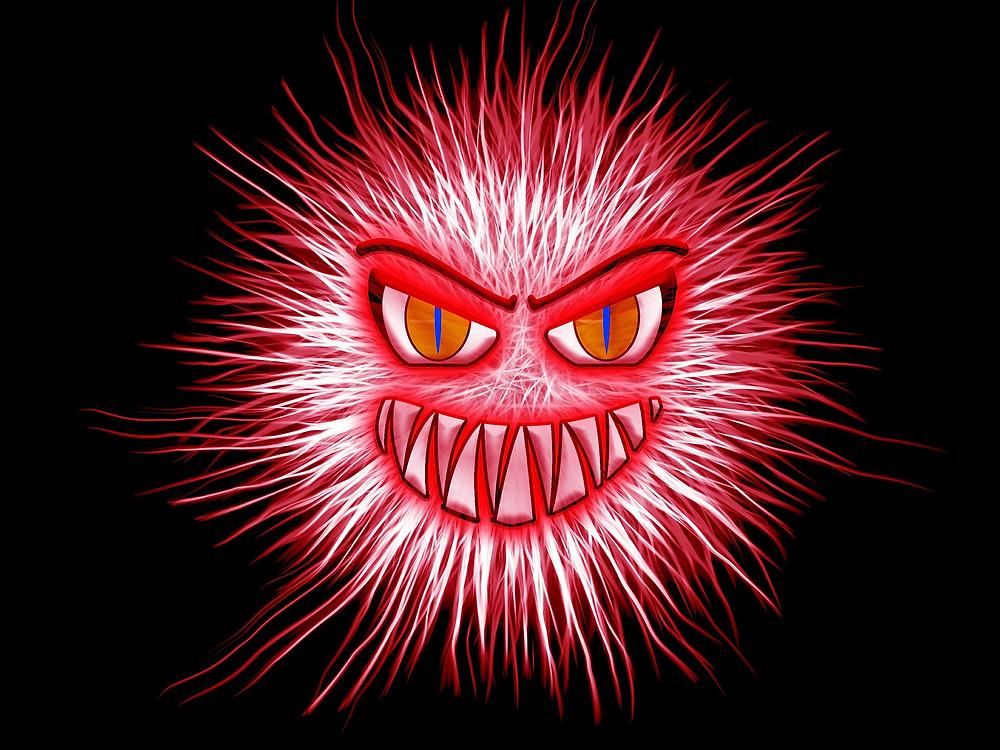 Smiling Red Virus