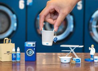 フレディ レック・ウォッシュサロンの洗濯用品が 本物そっくりのミニチュアになって新発売!