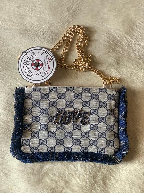 Borsa peluche logo Gucci love