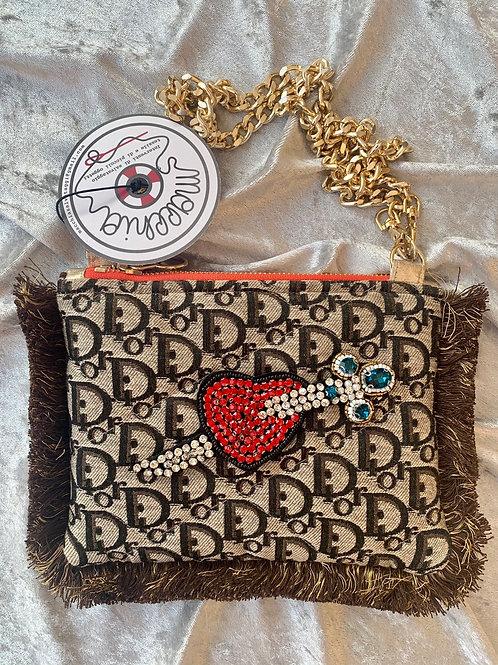 Borsa Dior cioccolato cuore
