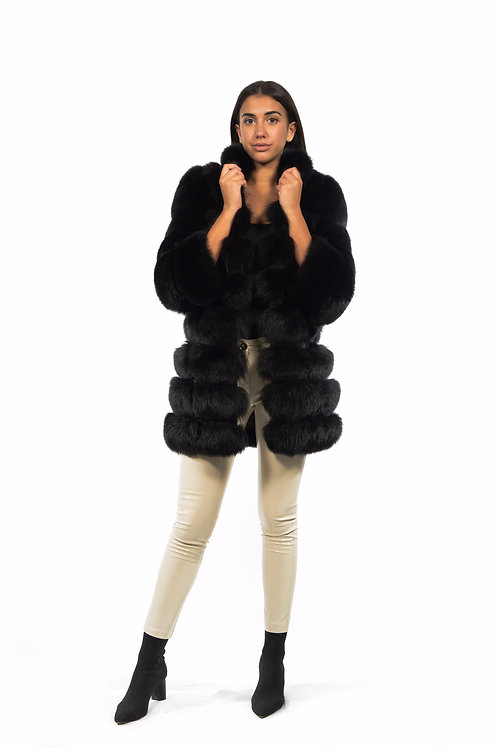 PELLICCIA DI VOLPE LUNGA CON ZIP PERSONALIZZABILE / LONG FOX FUR WITH Z