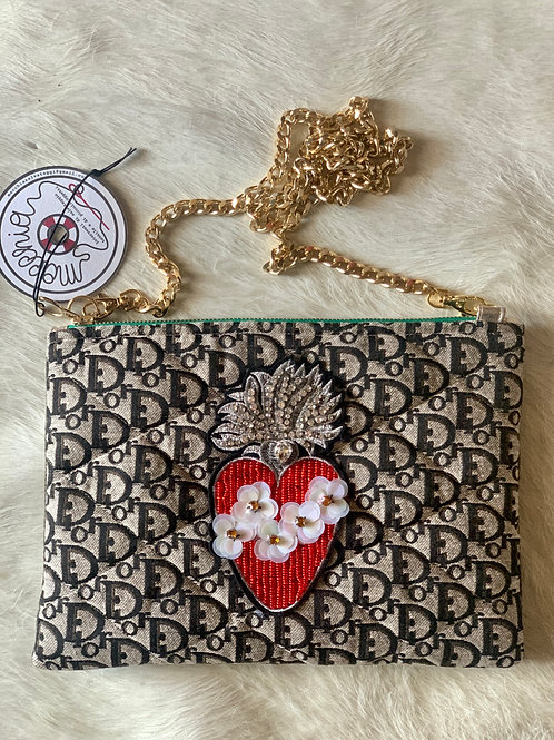Borsa logo Dior heart