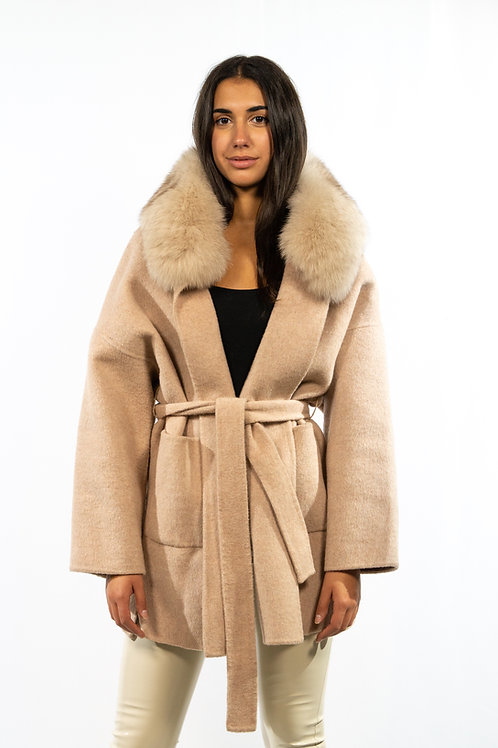 Cappotto beige volpe