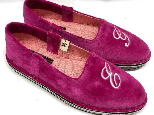 Pantofola velluto fucsia