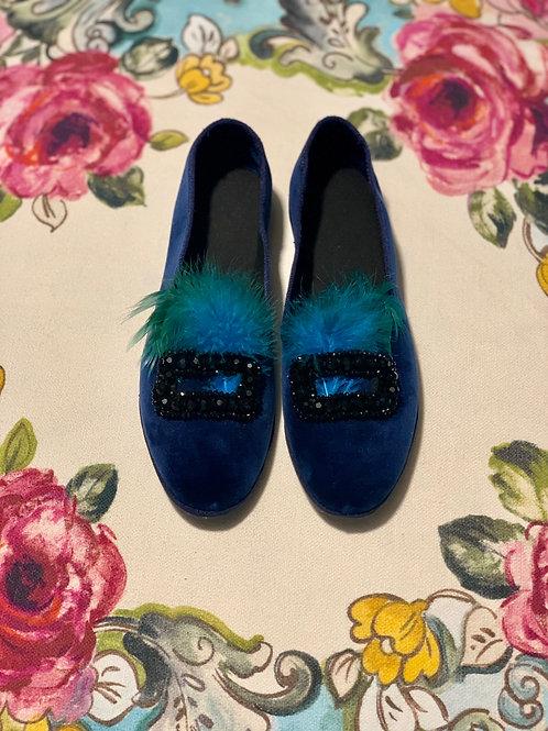 Scarpetta Dorothy blu royal