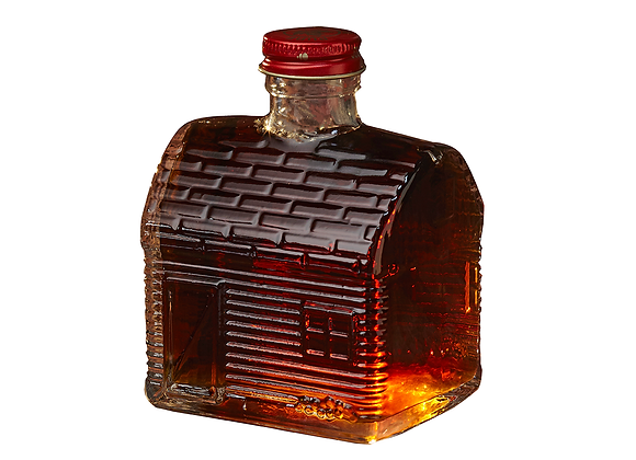 Maple Syrup in Fancy Glass (Glass Log Cabin)