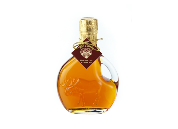 Maple Syrup in Fancy Glass (Embossed Moose Basquaise)