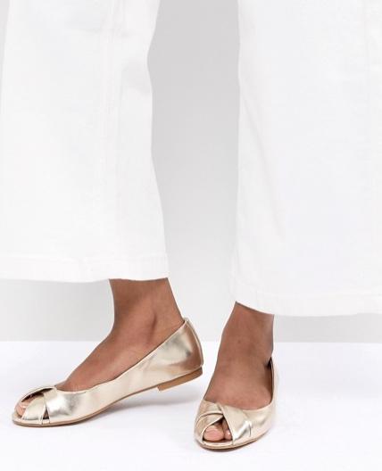 Sapatilha peep toe; Adamas Acessórios; looks de inverno no calor; sapatos abertos